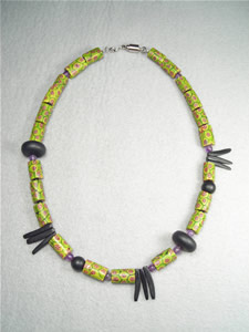 African Millifiore Bead Necklace